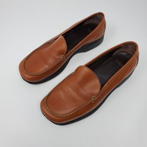 Coach | Cognac Brown Leather Rita Loafers Size 7.5